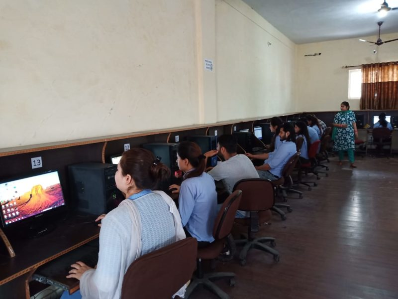 CSE & IT students appeared for SCILAB test - Yogananda